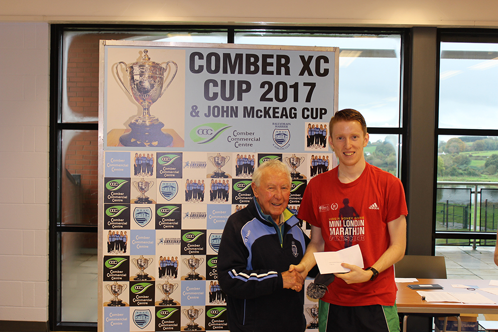 Springwell RC's Luke Dinsmore, winner of the U20 category at the Comber Cup Cross Country Event.