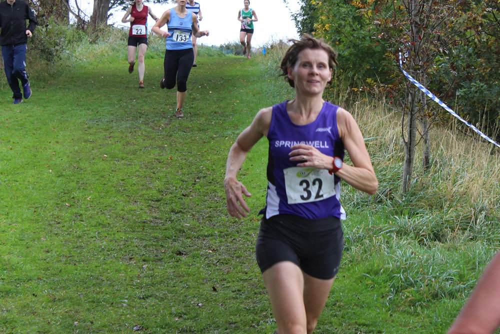 Springwell RC's Maebh Close at the Comber Cup Cross Country Event