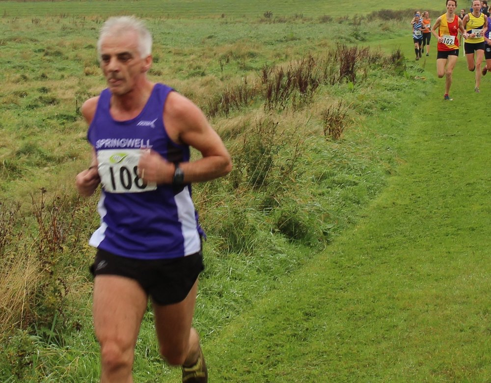 Springwell RC's Gerry O'Doherty on his way to victory in the Vet60+ category