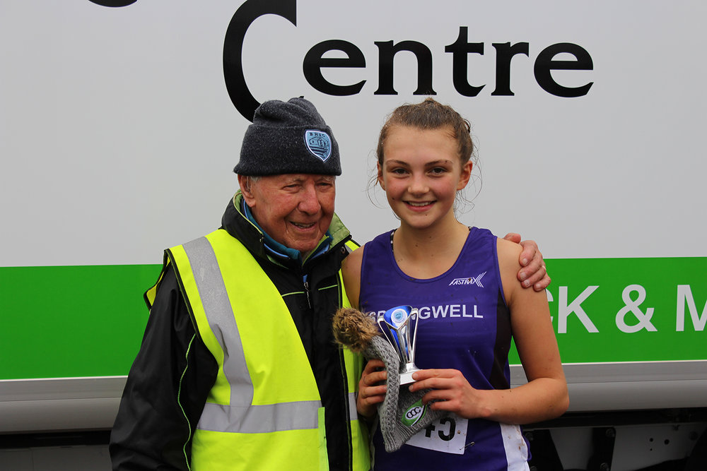 Springwell RC's Hermione Skuce – 3rd U18 girls at the Comber Cup Cross Country Event