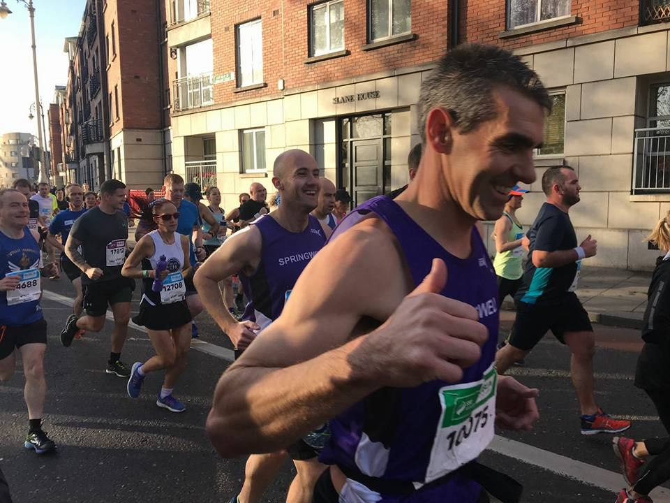 Springwell RC's Kieran Cooke and Stephen Cassidy at the SSE Airtricity Dublin Marathon