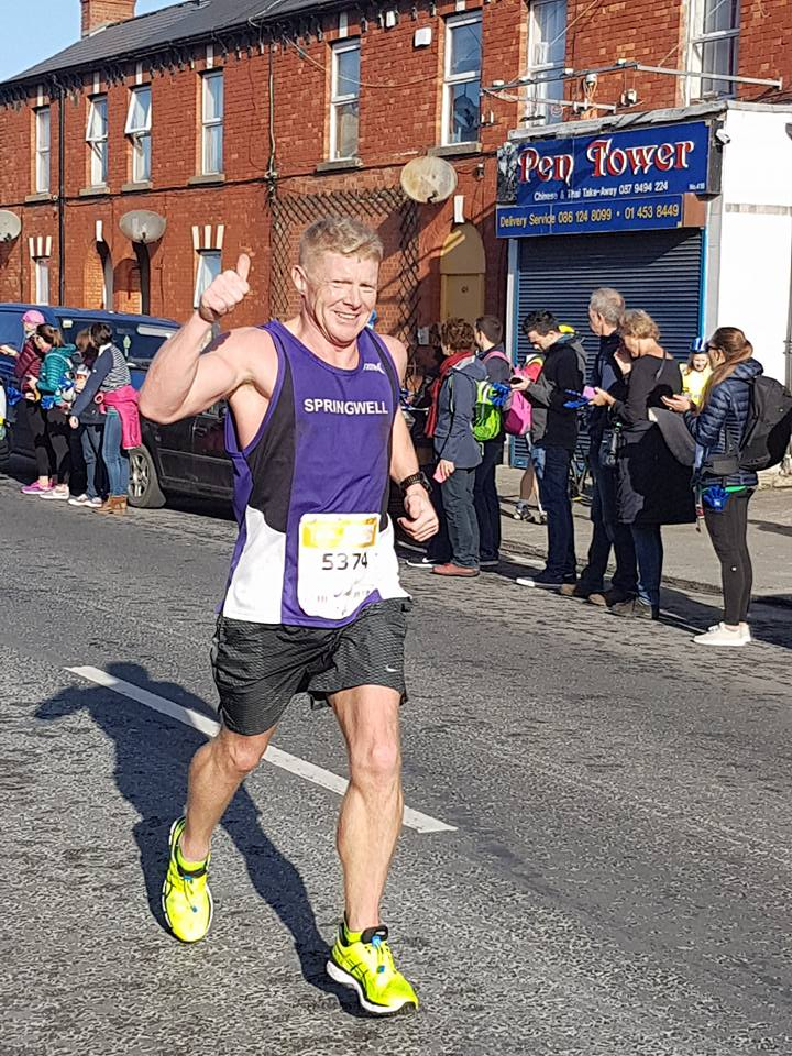 Springwell RC's Anthony Higginbottom at the SSE Airtricity Dublin Marathon (Photo Lorraine Mullan)