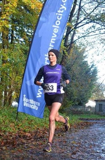 Springwell RC's Ciara Toner at the Northern Velocity Trail Series 10k in Garvagh (Photo courtesy of Northern Velocity)