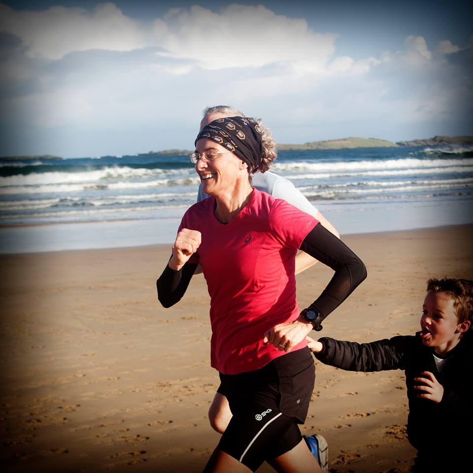 Springwell RC's Pam Howe completing her 100th Parkrun on Saturday in Portrush