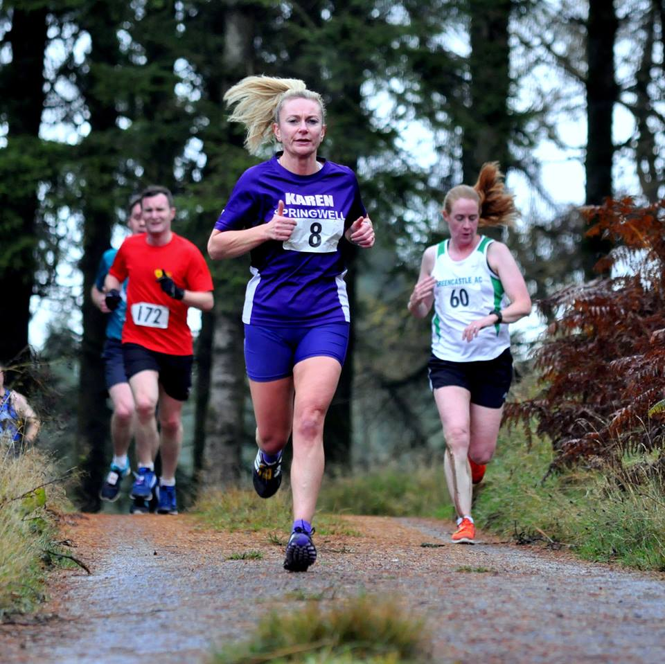 Springwell RC's Karen McLaughlin – 3rd lady at the Davagh 10k (Photo – Richard McLaughlin)