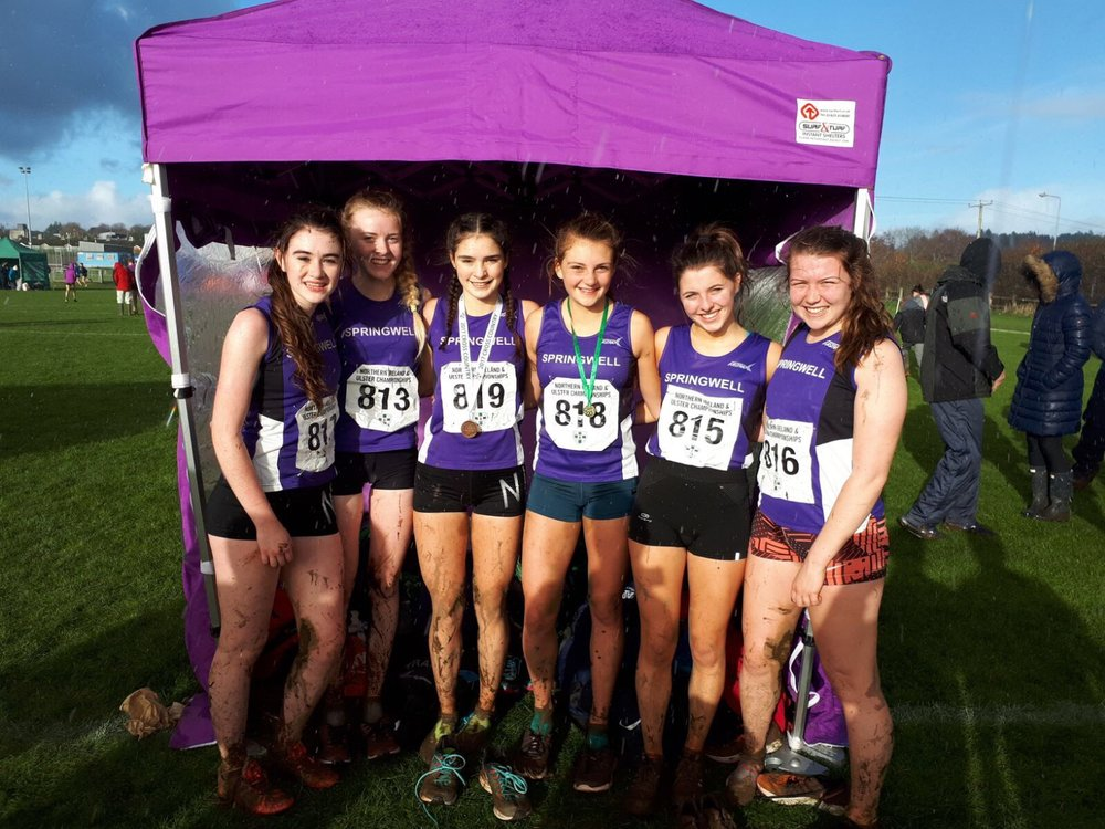 Springwell RC's U19 & U17 Girls at the NI & Ulster Uneven Age Group Championships