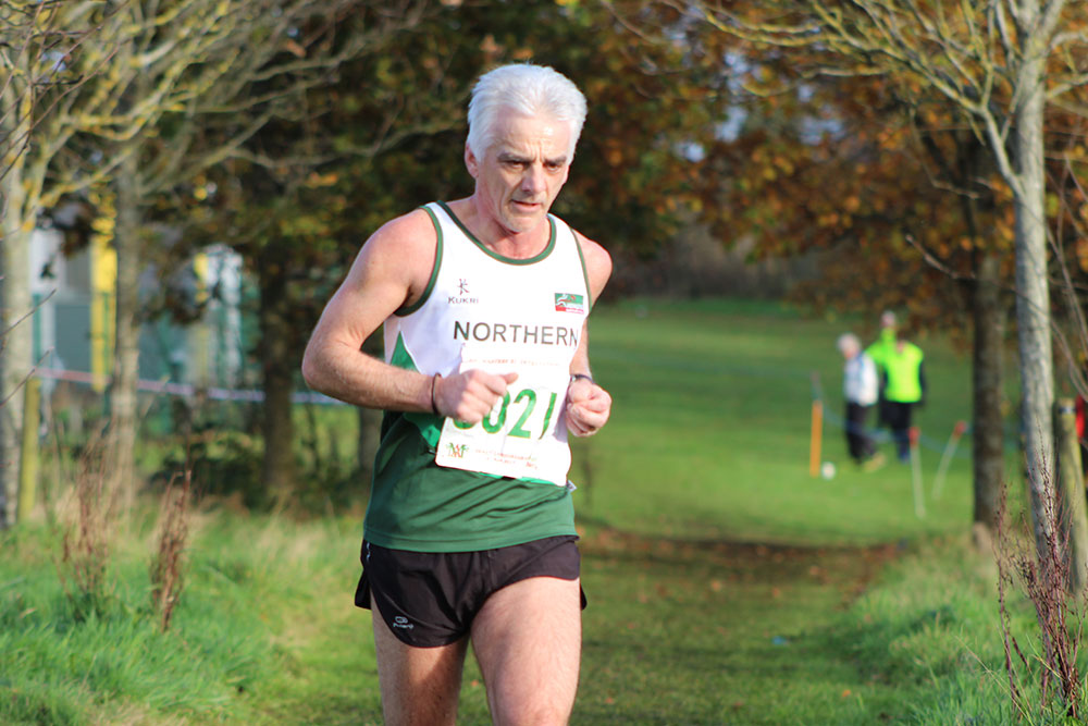 Springwell RC's Gerry O'Doherty representing N. Ireland at the British & Irish International XC