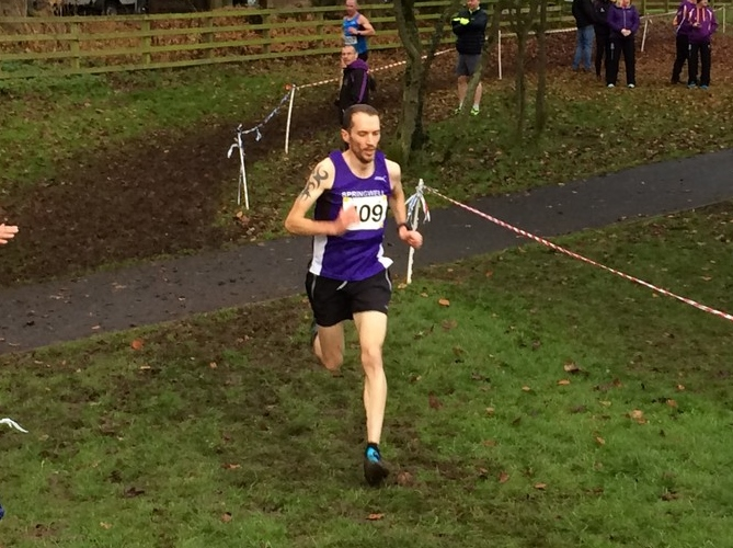 Springwell RC's Steven McAlary at the Malcolm Cup XC (Photo – Annadale Striders)