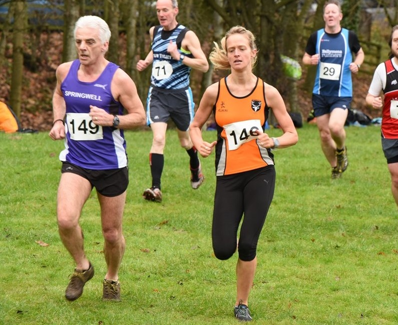 Springwell RC's Gerry O'Doherty 1st M60 s t the Malcolm Cup XC (Photo – Annadale Striders)