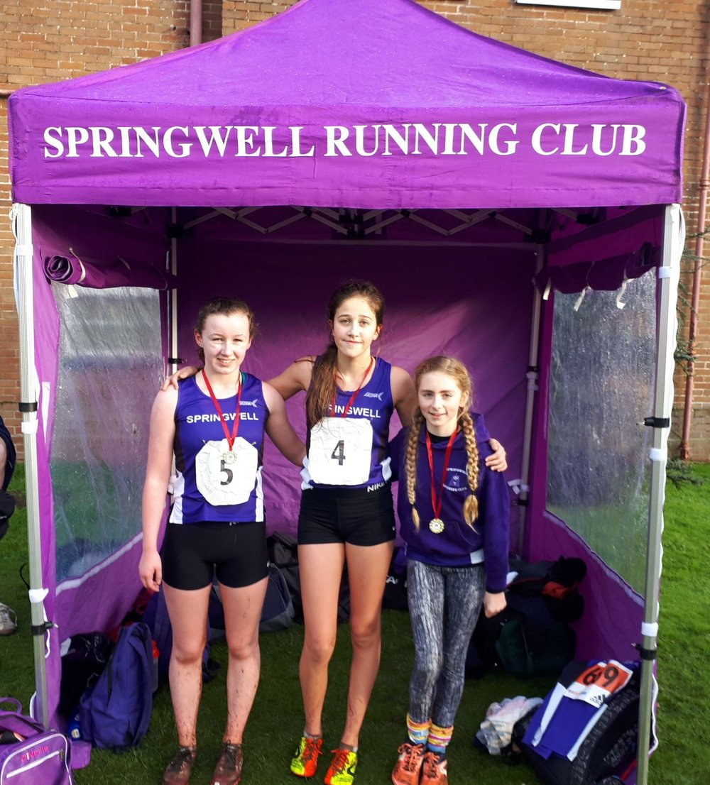 Springwell RC's Toni Donnelly, Niamh McGarry and Sophia Coyle