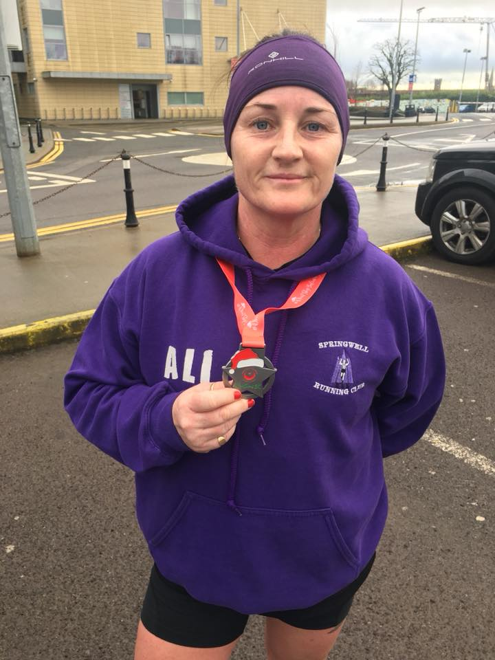 Springwell RC's Alison McAllister at the Drogheda & District AC's Christmas 5k