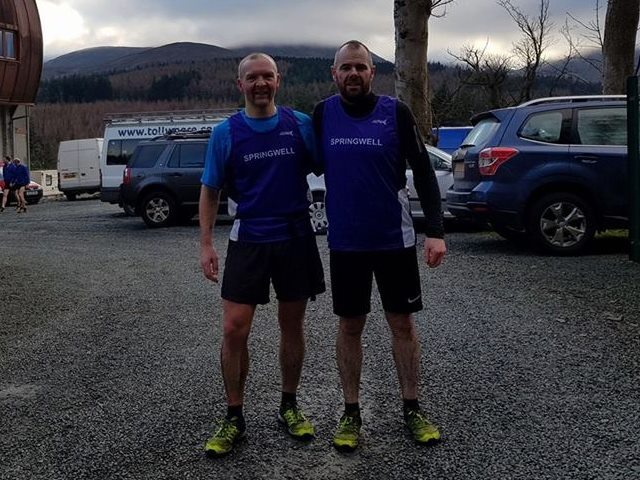 Springwell RC's Alex Brennan and Barry Mullan at the BARF 'Turkey Trot' Mountain Race