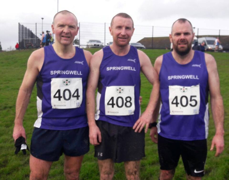 Springwell RC's Alex Brennan, Paul Thompson and Barry Mullan