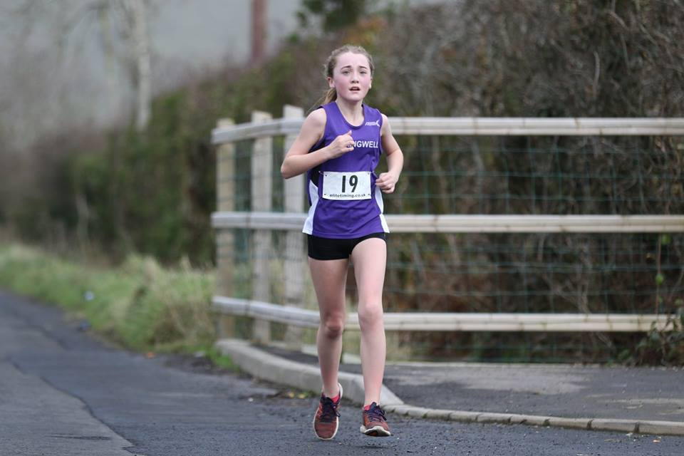 Springwell RC's Lauren Hazlett – 1st junior female at the St Patrick's 5k (photo – Sam Cooke)