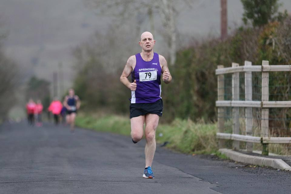 Springwell RC's James Stewart at the St Patrick's 10k (photo – Sam Cooke)
