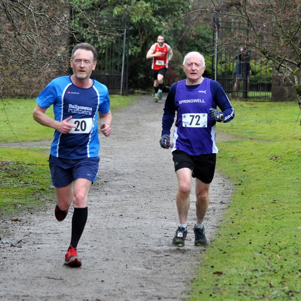 Springwell RC's Jim Breen and Elain Montgomery at the Drum Manor 10k