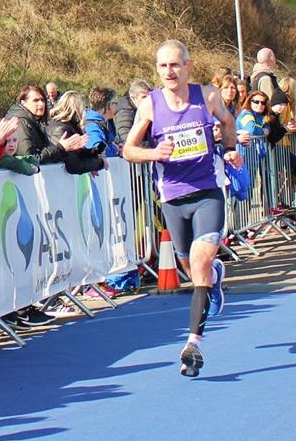 Springwell RC's Chris Denton at the AES Larne HM (Photo – Jim O'Hara)