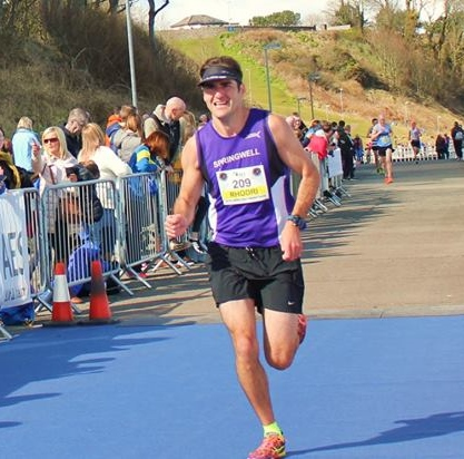 Springwell RC's Rhodri Jones at the AES Larne HM (Photo – Jim O'Hara)