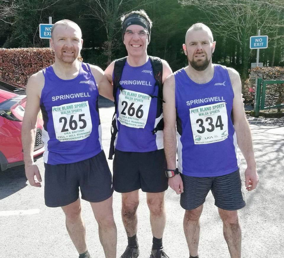 Springwell RC's Alex Brennan, Colin Brennan and Barry Mullan at the Fallows Mountain Race.