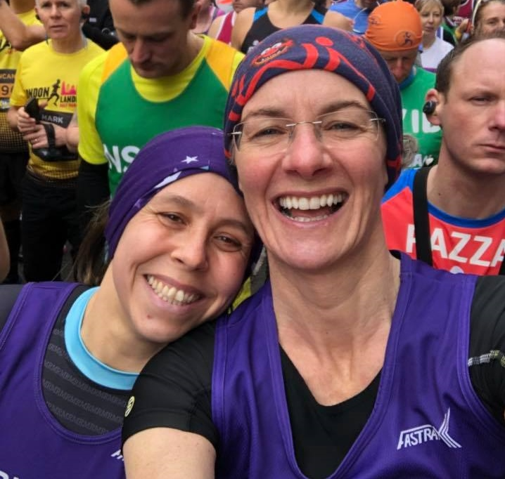 Springwell RC's Sarah Dickinson and Pam Howe at the London Landmarks Half Marathon.