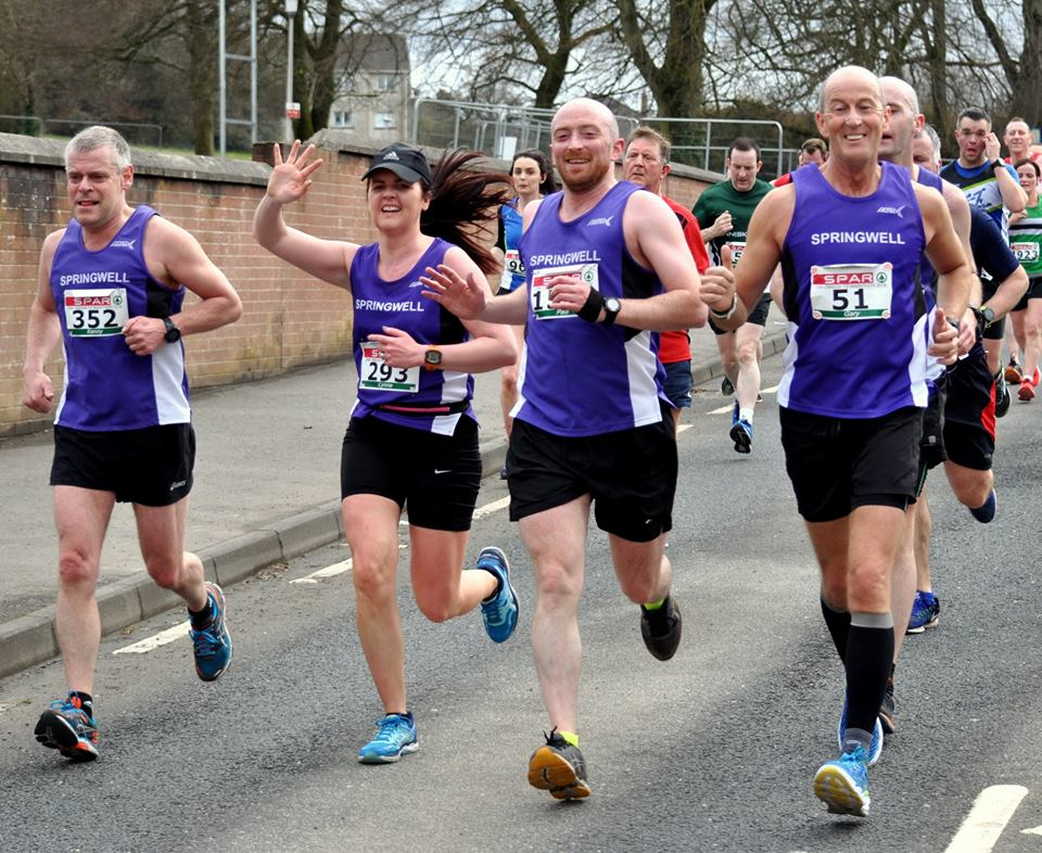 Springwell RC's Kenny Coulter, Lynne Young, Paul Irwin and Gary Moore (photo Richard McLaughlin)