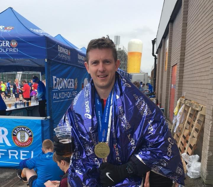 Springwell RC's Jason Scott at the Manchester Marathon.