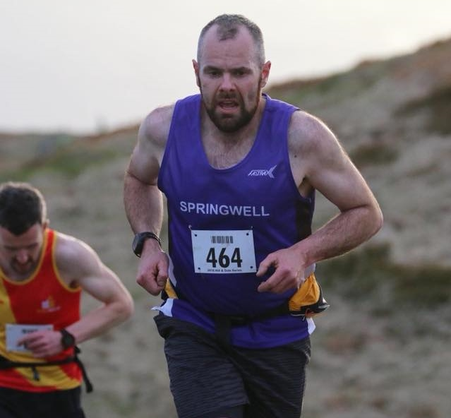 Springwell RC's Barry Mullan at the Newcastle AC Hill & Dale Series.