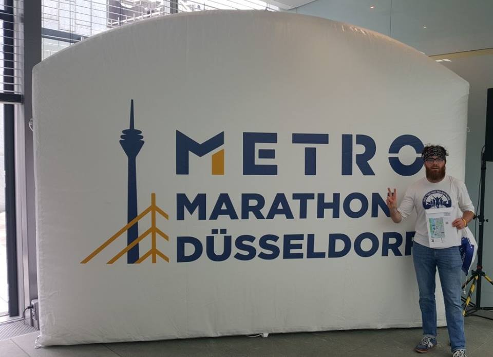 Springwell RC's Alistair Shaw at the Dusseldorf Marathon.