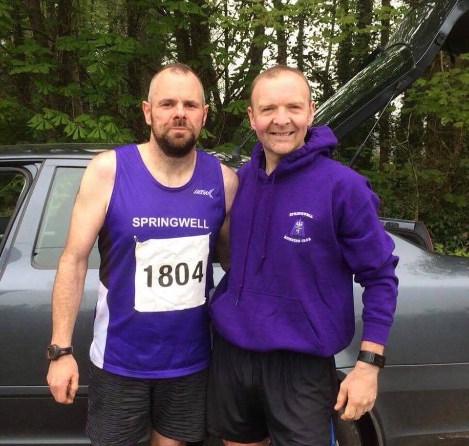 Springwell RC's Barry Mullan and Alex Brennan at the Annalong Horseshoe Race