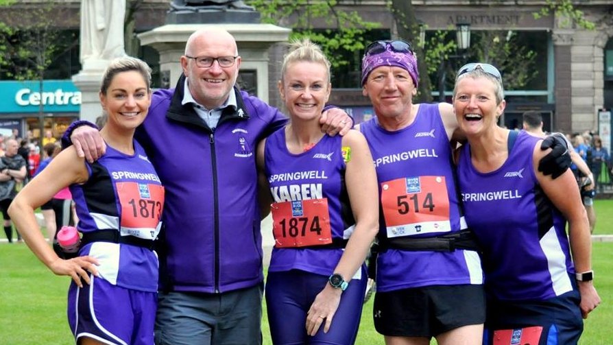 Springwell RC's Pamela Mooney, Kenny Bacon, Karen McLaughlin, Michael Johnson and Helena Dornan. (Photo – Richard McLaughlin)