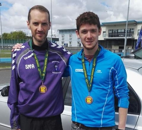 Springwell RC's Steven McAlary and Jonathan McKee at the Donegal Seniors Athletics T&F