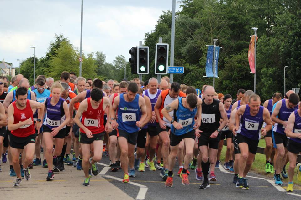 The start of the Boom 10k at the University of Ulster