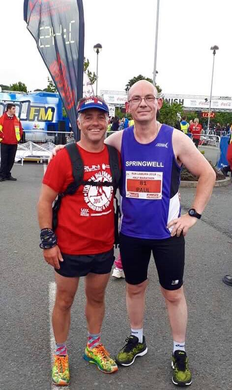 Springwell RC's Ross Armstrong and Paul Quinn at the Lisburn HM