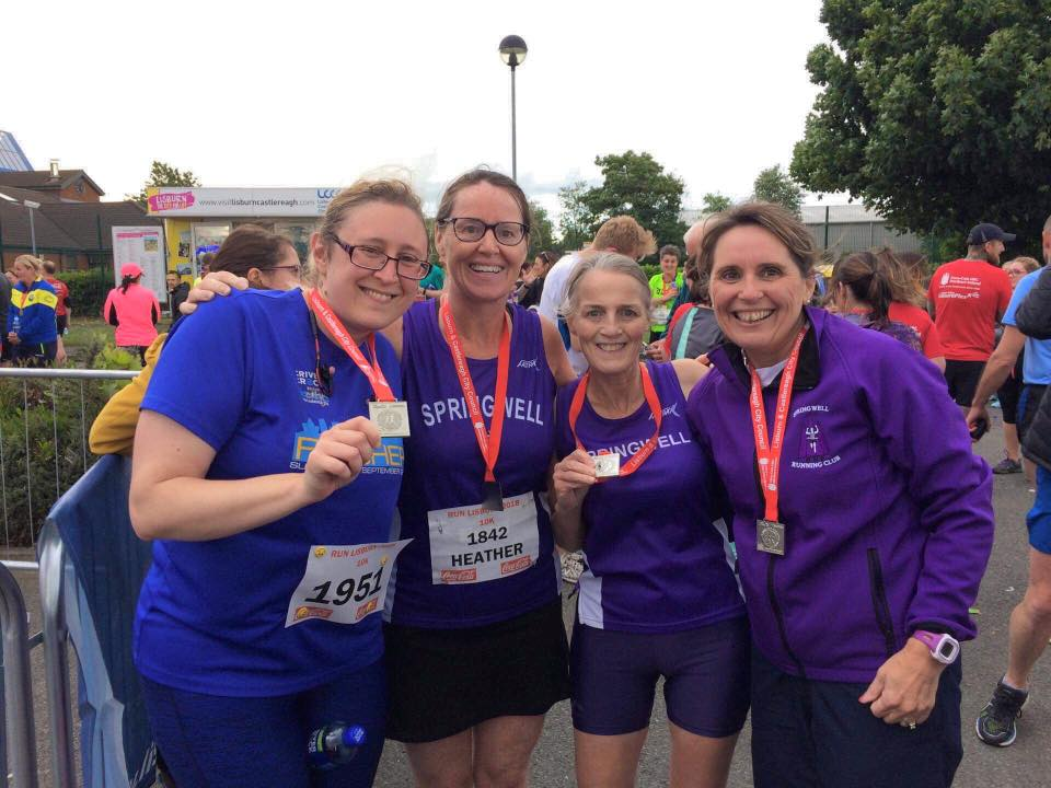 Springwell RC's Stacey Lyttle, Heather McLaughlin, Janet Patrick and Barbara Ferguson
