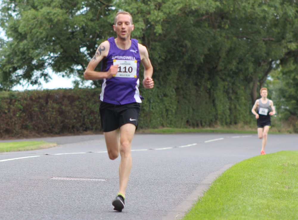 Steven McAlary (Springwell RC) followed by Christopher Fielding (unattached)