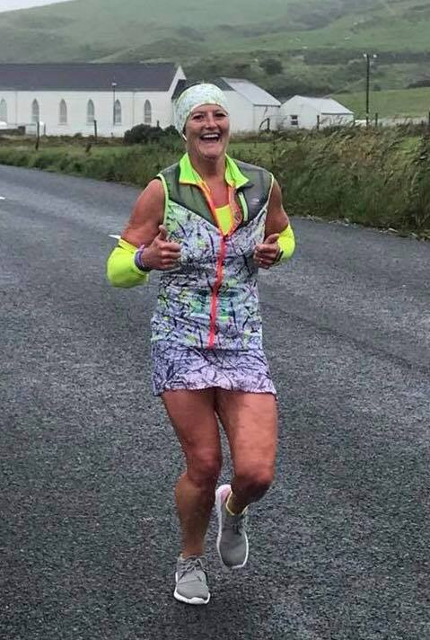 Helena Dornan on Day 2 of the Extreme North Quadrathon (Photo Davy MacNicol)