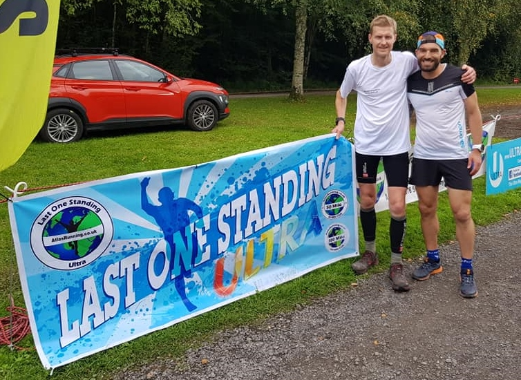 Peter Cromie and Guillame Calmettes at the Atlas Running 'Last One Standing' (Photo – Atlas Running)