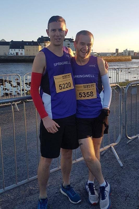Jason Scott and Darren Madden at the Galway Marathon (Photo Laura Madden)
