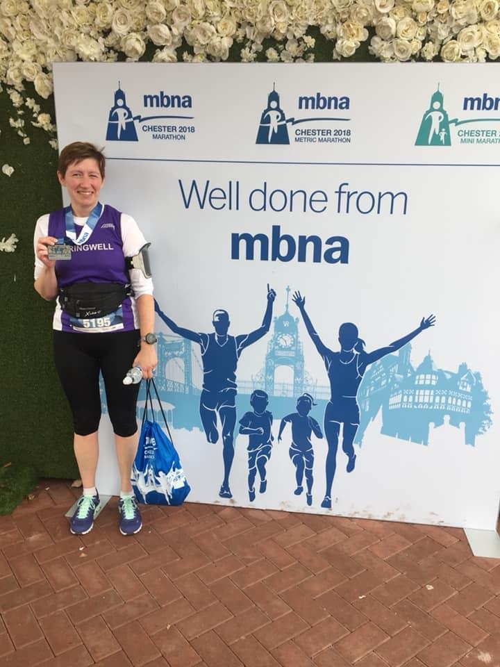 Roisin Walker at the Chester Metric Marathon (Photo Gemma Walker)