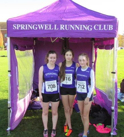 Toni Donnelly, Niamh McGarry and Lauren Hazlett at the NI & Ulster Even Age Group Championships
