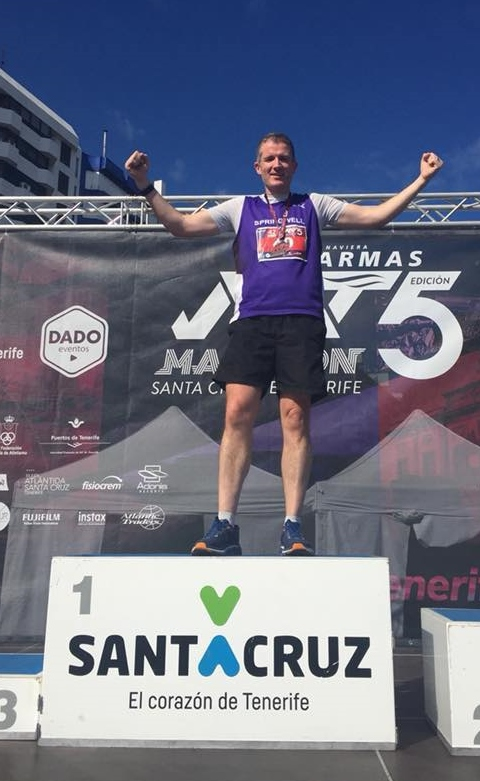 John Butcher at the Maraton De Tenerife