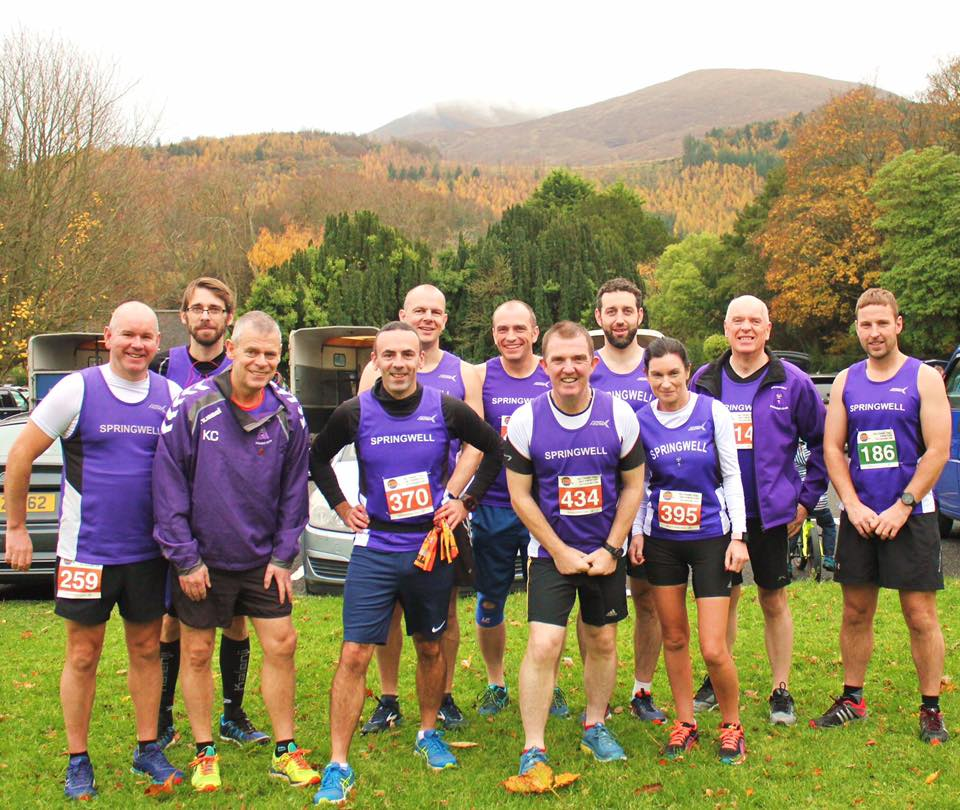 Springwell RC at the Tollymore Trail Marathon 2018