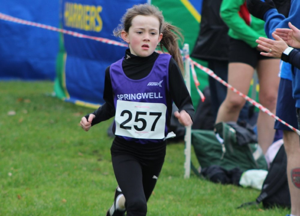 Adria McAllister 3rd in the U11 Girls