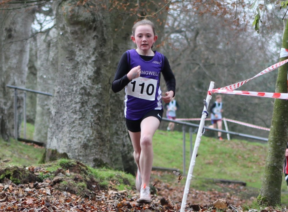 Eobha McAllister 3rd in the U13 Girls