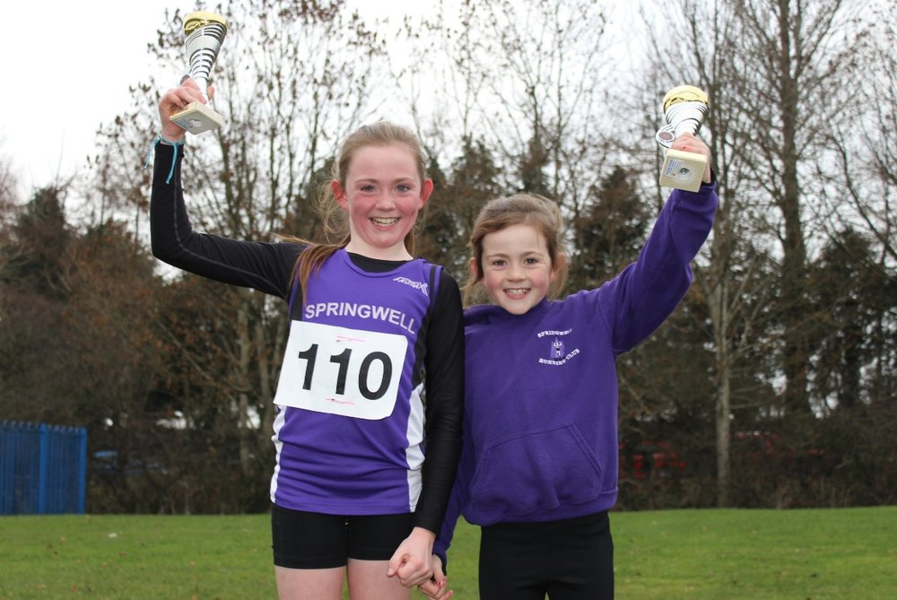 Eobha and Adria McAllister at the Malcolm Cup XC