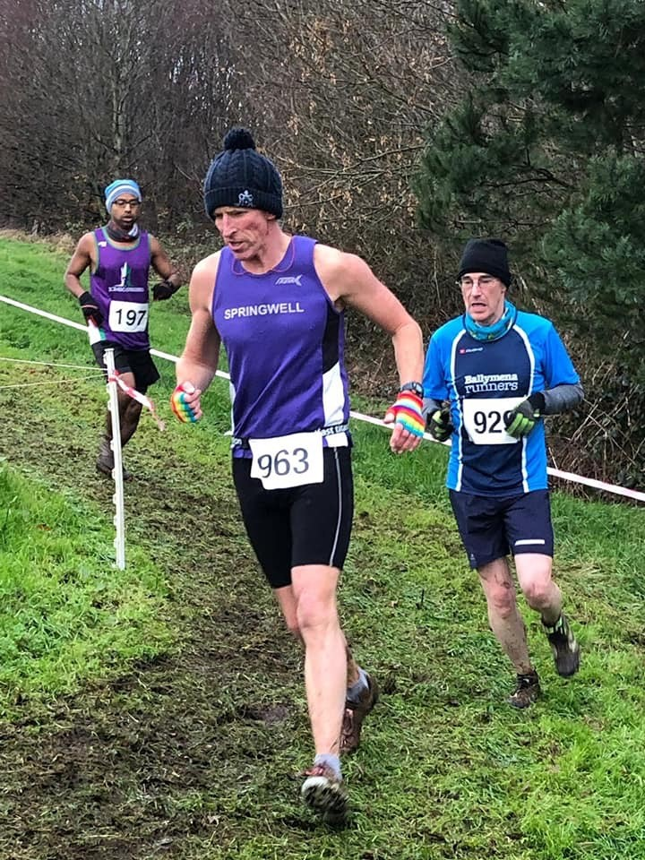 Peter Jack (Springwell RC) at the Mighty Oaks XC (photo – Ballymena Runners)