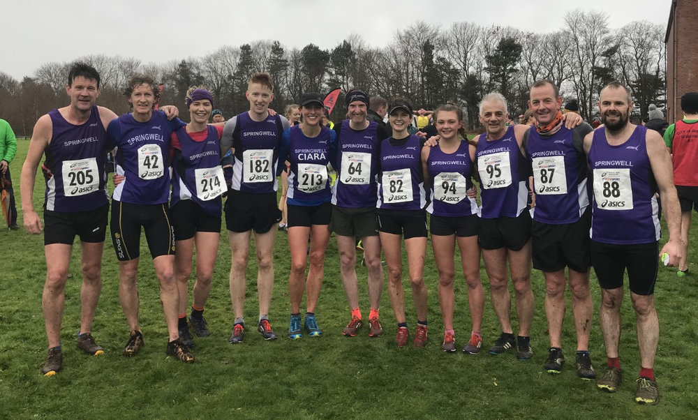 Springwell RC at the North West Cross Country