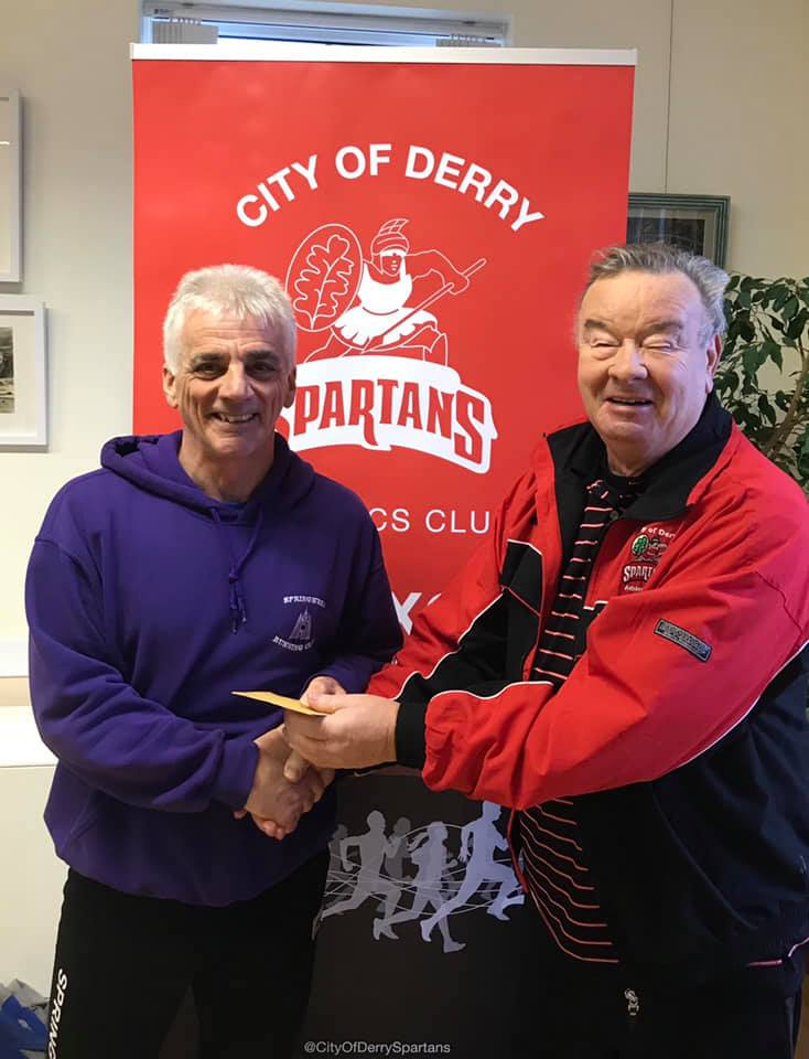 Springwell RC's Gerry O'Doherty with COD Spartans Charlie Large