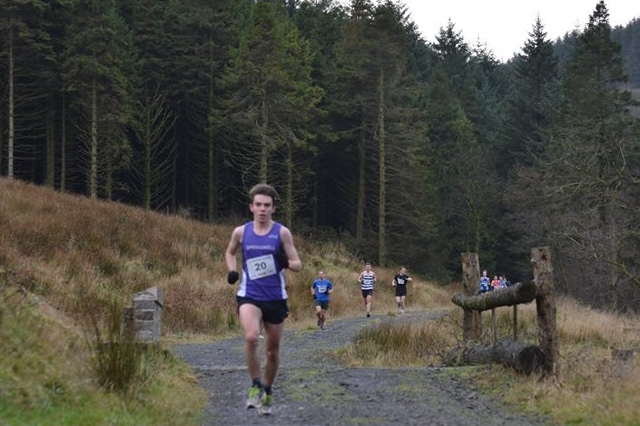 Springwell RC's Oisin Brennan at the Race Over the Glens (Photo Ballymena Runners)