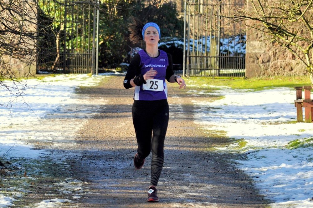 Carolyn Crawford at the Drum Manor 10k (Photo Richard McLaughlin)